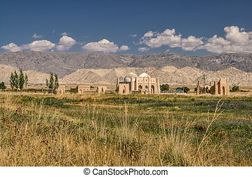 Temple ruins in Kyrgyzstan - Scenic ruins of ancient temple ...