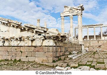 Temple Ruins of Ancient Pergamon