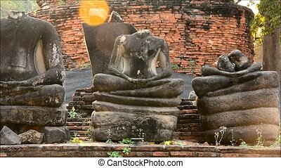 Temple Ruins of the Ancient Palace Wat Phra Si Sanphet, Ayuthaya