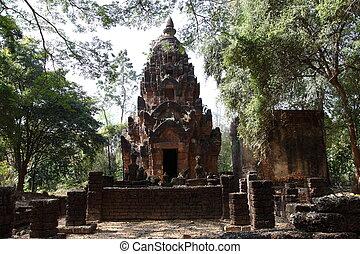temple, si satchanalai