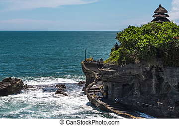 Temple standing on a rock in the ocean
