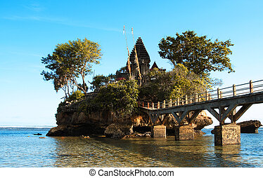 Temple - A Hindu temple on a small rock island in Indonesia