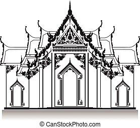 temple., tailandés