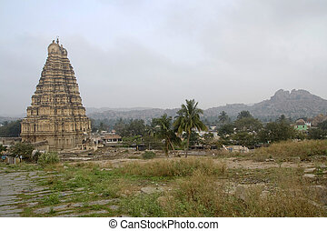 Temple Tower at Hampi
