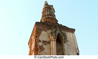 Temple tower of brick and stucco