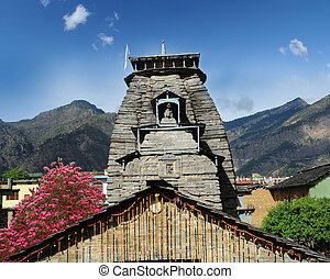 Temple tower, Sikhara - temple tower Gopinath Temple in the...