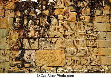 temple, wat angkor, levers de soleil