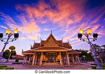 Temple wat in bangkok thailand