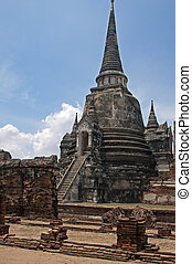 Ayuthaya - Temples at the Unesco World Heritage Site in...