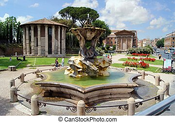 Temples of Roma - Forum Boarium with Temples of Hercules...