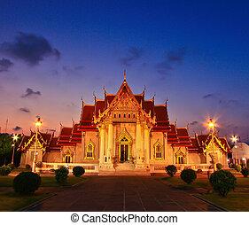 temple(wat, benchamabophit), bangkok, tailandia