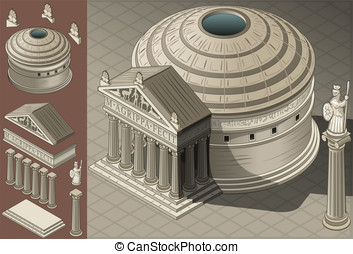 templio_greco02 - Detailed illustration of a Isometric...