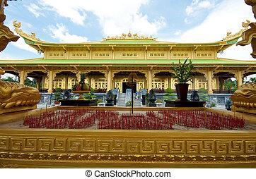 templo, adoración, vietnam