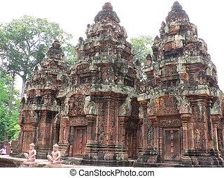 templo, antiguo, camboya