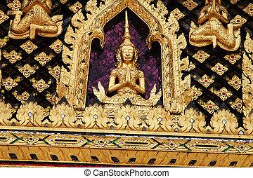 templo, budista, bangkok, thailand.