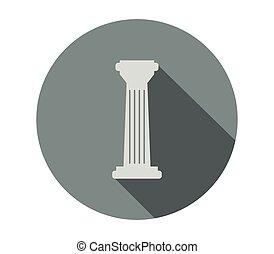 templo, coluna, ícone