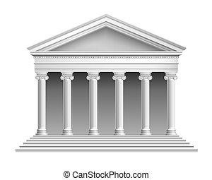 templo, com, colonnade