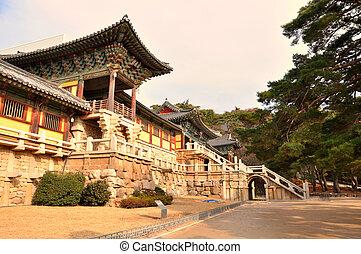 templo, coréia, bulguksa, gyeongju