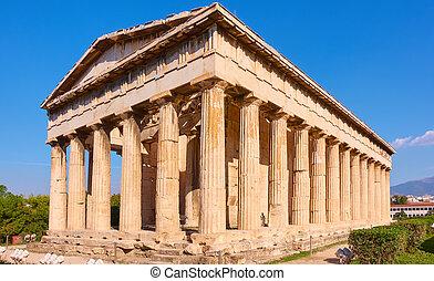 templo, de, hephaestus
