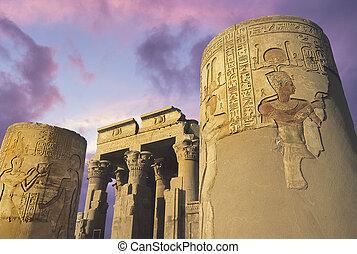 templo, de, kom-ombo, eygpt