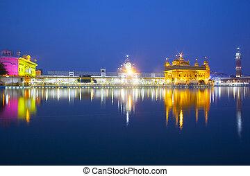 templo dorado, amritsar, -, india