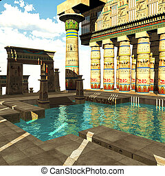 templo, egipcio