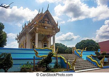 templo, en, koh samui
