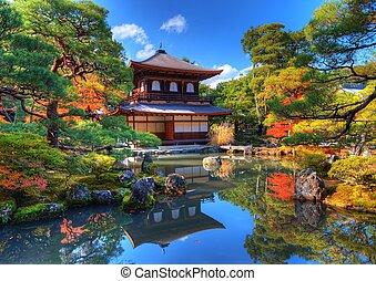 templo, ginkaku-ji, kyoto