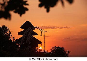 templo, indonésia, watu, bali, ulu, ásia