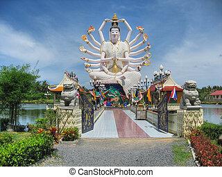templo, koh-samui, agosto, tailandia, 2007