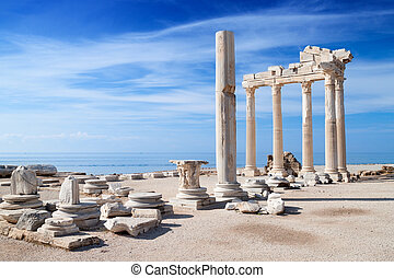 templo, ruínas, apollo