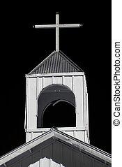templom áthalad, templomtorony