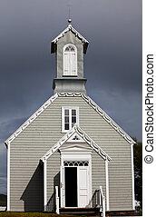 templom, alatt, izland