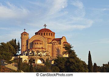 templom, -ban, thessaloniki, alatt, görögország