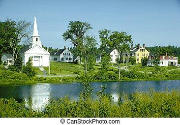 templom, falu