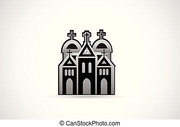 templom, ikon, jel
