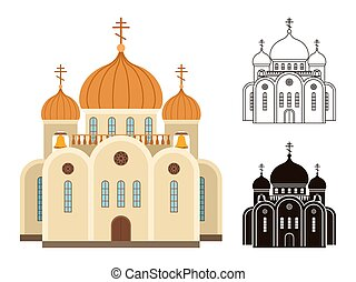 templom, keresztény, ikonok