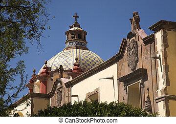 templom kupola, mexikó