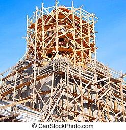templom, szerkesztés, alatt