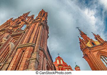 templomok, alatt, vilnius, litvánia
