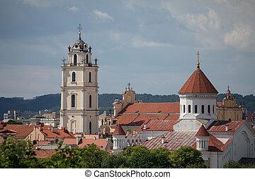 templomok, közül, vilnius, litvánia