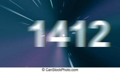 tempo, è, correndo, fuori., anni, change., indietro, a, il,...
