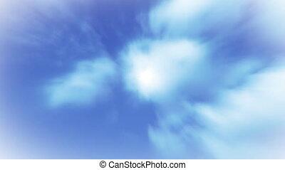 tempo, 1, nuvens, lapso