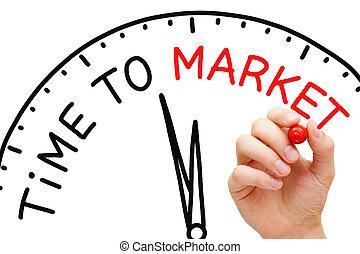 tempo, a, mercato