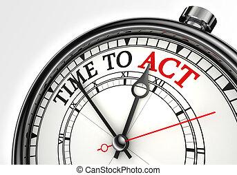 tempo, agire, concetto, orologio