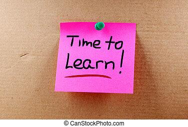 tempo, aprender, conceito