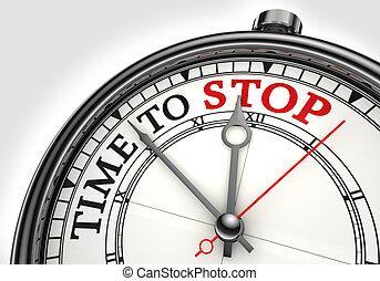 tempo, arrestarsi, concetto, orologio