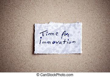 tempo, background!, innovazione