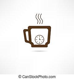 tempo café, ícone