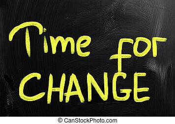 tempo, cambiamento, concetto